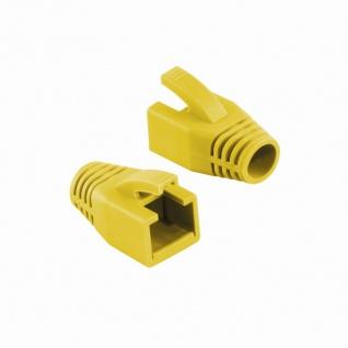 Knickschutztülle 8, 0 mm für Cat.6 RJ45 Steckverbinder, gelb, LogiLink® [MP0035Y]