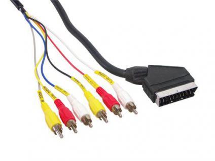 kabelmeister® Anschlusskabel Scart Stecker an 6x Cinch Stecker, 2m