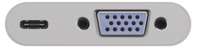 USB-C™ Multiport Adapter, USB-C™ Stecker an VGA Buchse (1080P / 60 Hz) und USB C™ Buchse (PD 60W)