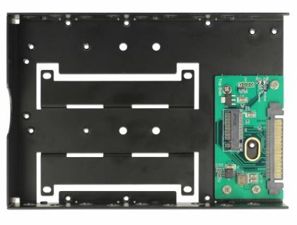 Konverter U.2 SFF-8639 zu M.2 NVMe Key M mit 3.5? Rahmen, Delock® [63922]