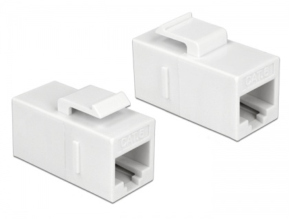 Keystone Modul RJ45 Buchse an RJ45 Buchse, Cat.6 UTP, weiß, Delock® [86379]