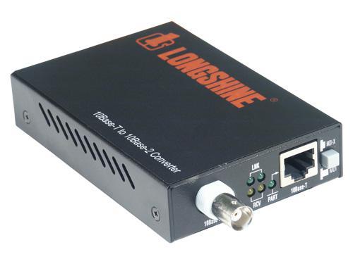 Longshine® LCS-883C-TB, RJ45 zu BNC Converter
