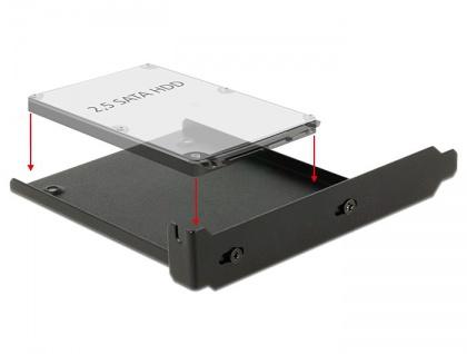 """Einbaurahmen für 1x 2.5"""" HDD in den PC Slot, Delock® [18212] - Vorschau"""
