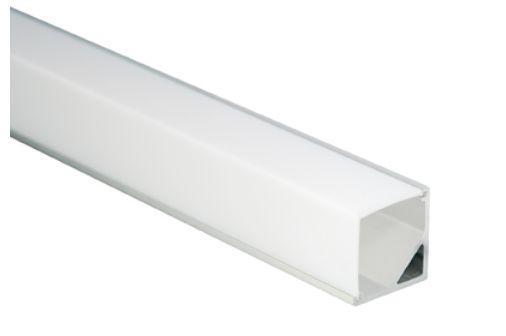 Al-Eckprofil für LED-Leisten, 16 x 16mm, ca. 2m