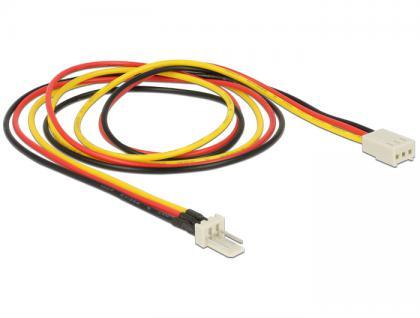 Stromkabel 3 Pin Stecker an 3 Pin Buchse (Lüfter) 60 cm, Delock® [83654]