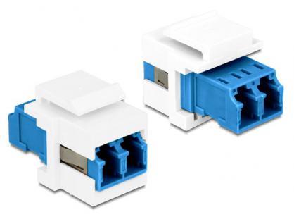 Keystone Modul, LC Duplex Buchse an Buchse SM, Delock® [86357]