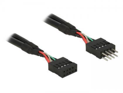 USB 2.0 10 Pin Verlängerungskabel Pfostenstecker an Pfostenbuchse 50 cm, Delock® [83874]