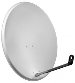 Alu-Satellitenspiegel, 80 cm, hellgrau - Vorschau