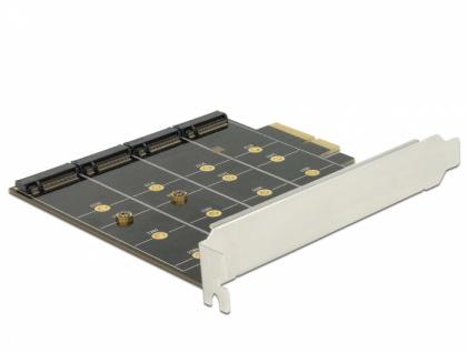 PCI Express Karte > 4 x intern M.2 Key B mit RAID, Delock® [89888]