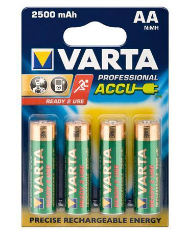 Varta® Akku Ni-MH Mignon (AA) 1, 2V 2600mA, 4er Pack