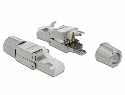 RJ45 Stecker Cat.6A STP werkzeugfrei, Delock® [86477]