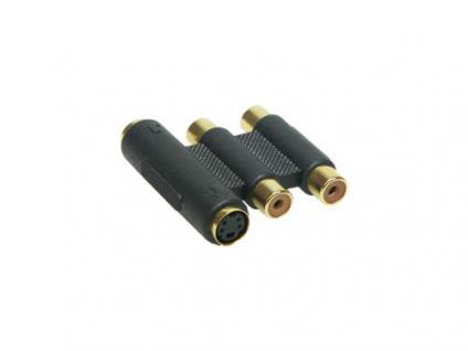 kabelmeister® Audio Video Adapter SVHS Buchse+ 2x Cinch Buchse / Buchse
