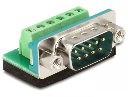 Adapter Sub-D 9 Pin Stecker an 6 Pin Terminalblock, Delock® [65499]