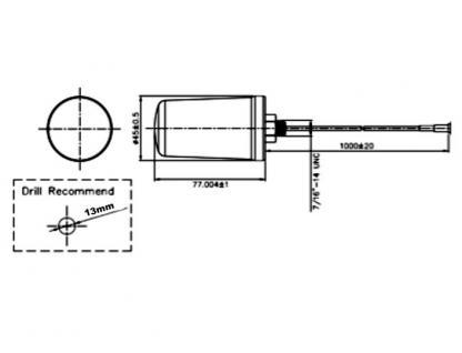 Antenne WLAN RP-SMA 802.11 ac/a/h/b/g/n 2 dBi omni weiß outdoor, Delock® [88985]
