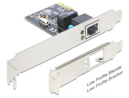 PCI Express Karte, Gigabit Lan 1x + LowProfile, Delock® [89357]