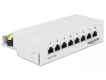 Delock Desktop Patchpanel Cat.6A, 8-Port, weiß, Delock® [87678]