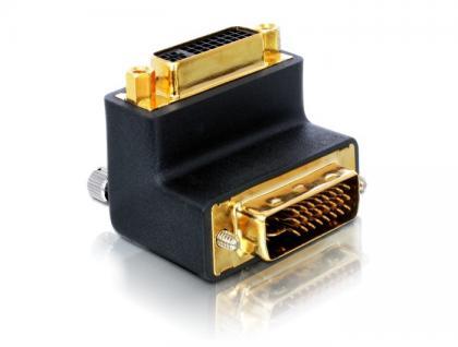 kabelmeister® Adapter DVI 24+5 Buchse an DVI 24+5 Stecker, nach oben gewinkelt