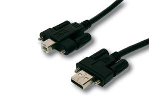 Verlängerungskabel, USB 2.0 Stecker A an Stecker B, verschraubbar, 2m, Exsys® [EX-K1552V]