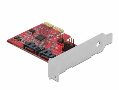 2 Port SATA PCI Express Karte mit RAID 1 - Spiegelung bestehender Daten, Delock® [90406]
