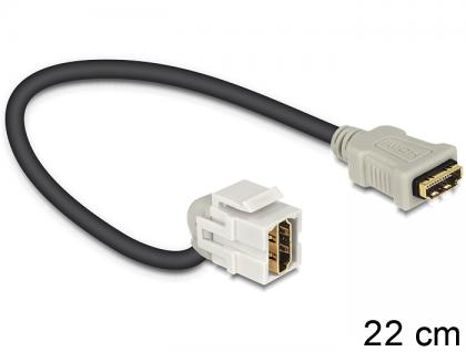 Keystone Modul HDMI Buchse an HDMI Buchse 110____deg; mit Kabel, Delock® [86326]