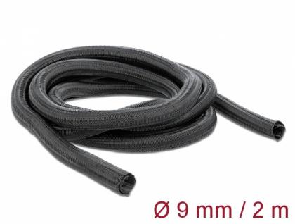 Geflechtschlauch selbstschließend 2 m x 9 mm schwarz, Delock® [18852]