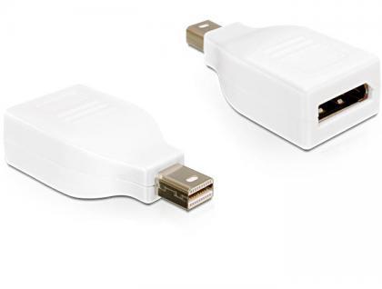 Adapter Displayport mini Stecker an Displayport Buchse, weiß, Delock® [65239]
