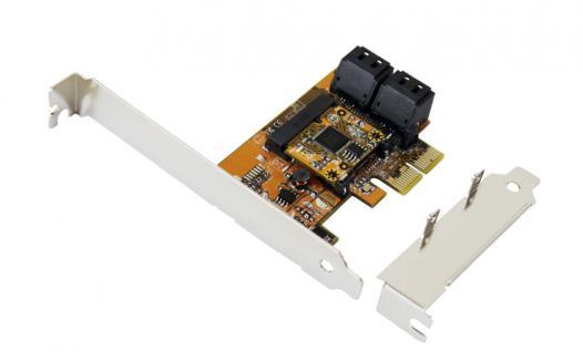 PCIe SATA3 Controller mit RAID 0/1 und 5 mit 4 Internen Ports für HDD und SSD, Exsys® [EX-3517R]