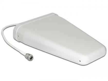 LTE Antenne N Buchse 8 - 10, 5 dBi 0, 32 m RG-58 direktional weiß outdoor, Delock® [12434]