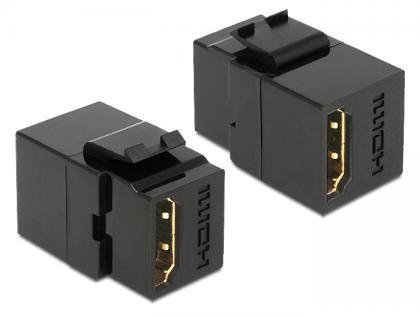 Keystone Modul HDMI Buchse an HDMI Buchse schwarz, Delock® [86366]