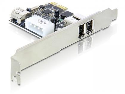 FireWire A 2+1 Port PCI Express Karte, Delock® [89213]