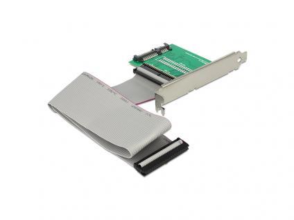 Konverter SATA 22 Pin an IDE 44 Pin SSD / HDD mit Slotblech, Delock® [62481]
