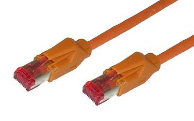 kabelmeister® Patchkabel, Cat. 6, S/FTP, PiMF, halogenfrei, 600MHz, Hirose-Stecker, orange, 1, 5m