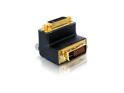 Adapter DVI 29pin Stecker an Buchse rechts gewinkelt, Delock® [65173]