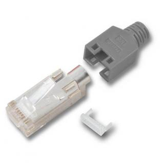 RJ45-Hirose Stecker TM11, 3 Elemente, hellgrau, Good Connections®