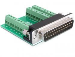 Adapter, Sub-D 25pin Stecker an Terminalblock 27pin, Delock® [65318]