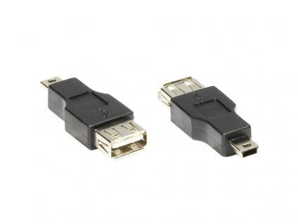 kabelmeister® USB A Buchse an Mini-B-5-Pin Stecker