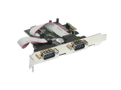 Longshine® LCS-6321 PCI Express Karte 2x seriell