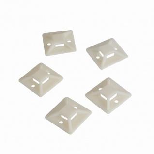 Kabelbinderhalterungen, selbstklebend, Kabelbinderaufnahme: 11 x 2, 9 mm, 100 Stück, LogiLink® [KAB0044]