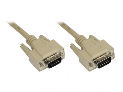 Anschlusskabel VGA Stecker an Stecker, grau, 3m, Good Connections®