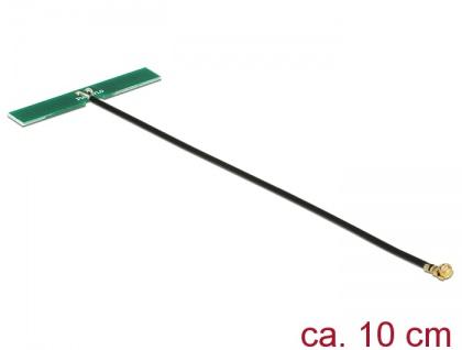 GSM UMTS LTE Antenne MHF Stecker 2 dBi 10 cm mm omnidirektional PCB intern Klebemontage, Delock® [89496]