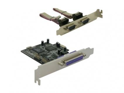 PCI Express Karte 1 x parallel, 2 x seriell, Delock® [89129]