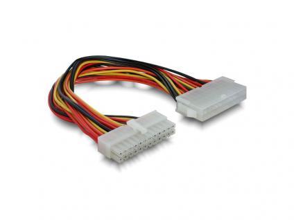 Stromkabelverlängerung 24pol Stecker an 24pol Buchse, ca. 0, 2m, Delock® [82989]