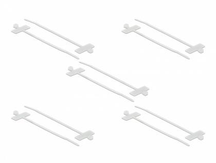 Kabelbinder mit Beschriftungsfeld L 200 x B 2, 5 mm weiß 10 Stück, Delock® [18955]
