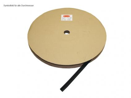 kabelmeister® Schrumpfschlauch, schwarz, Schrumpfbereich: 10 bis 5 mm, 100m Rolle