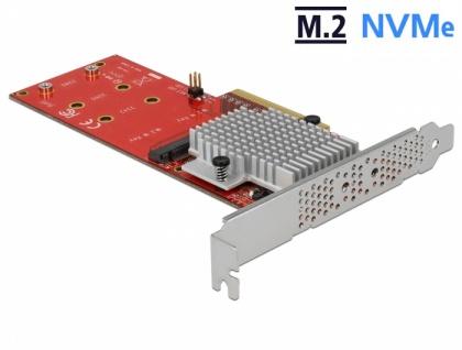 PCI Express x8 Karte an 2x intern NVMe M.2 Key M - Low Profile Formfaktor, Delock® [90305]