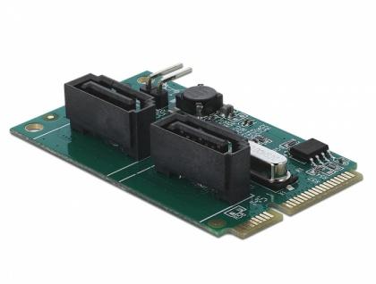 Mini PCIe Konverter an 2 x SATA mit RAID, Delock® [95264]