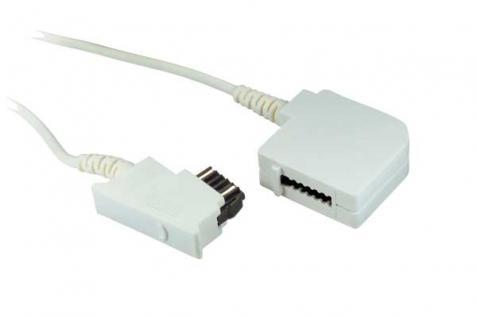 kabelmeister® Telefonverlängerungskabel, TSS-Stecker auf TSS Kupplung (Telefon), weiß, 6m