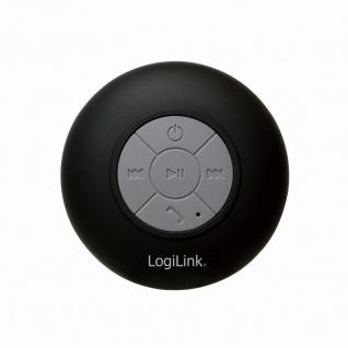 Wireless Lautsprecher für die Dusche, Schwarz, LogiLink® [SP0052]
