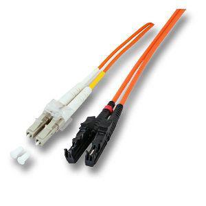 kabelmeister® Patchkabel LWL Duplex OS2 (Singlemode, 9/125) E2000®/LC-APC, 1m