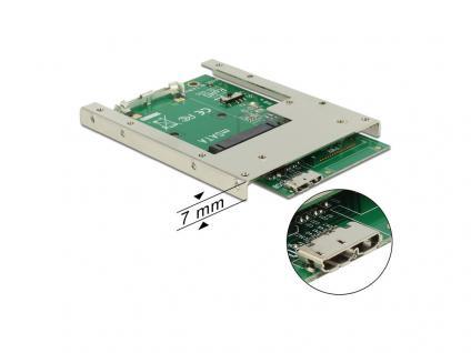 Konverter USB 3.0 an mSATA mit 2.5' Rahmen (7 mm), Delock® [62468]